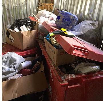 hazardous waste storage areas