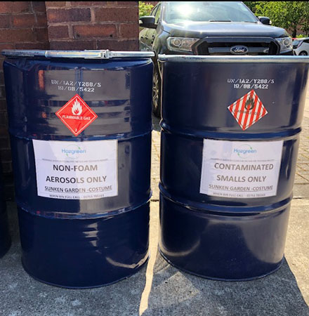 The images on this page are from construction sites in London, some that do not comply and some that do not, including a hazardous waste area installed by Hazgreen.