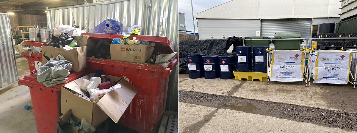 Unfortunately, many companies in the construction industry still have a long way to go before fully complying with the hazardous waste regulations. Hazgreen advise construction companies how they should segregate and store hazardous waste on site to ensure EU and UK regulations are adhered to.