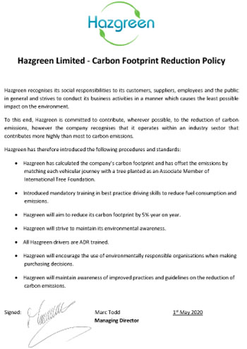 Carbon Footprint Policy